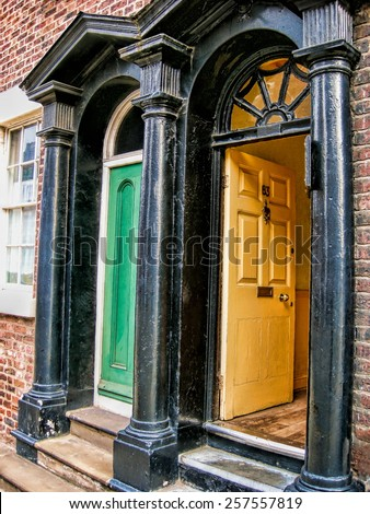 Liverpool Doors - stock photo