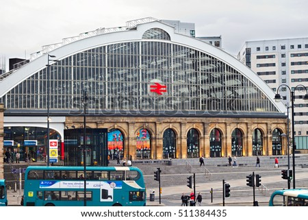 LIVERPOOL 3rd NOVEMBER 2016. A view of Lime Street Liverpool UK. The main railway station in the city