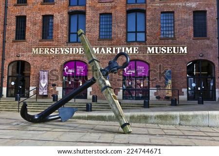 LIVERPOOL, UK - JULY 24, 2014: Merseyside Maritime Museum in the Albert Dock on the banks of the River Mersey. - stock photo