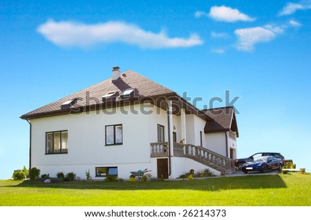 living house - stock photo