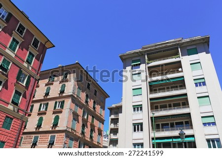 Living in Genoa - stock photo