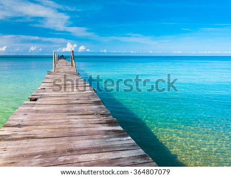 Living is Easy Contemplating the Sea  - stock photo