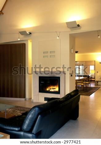 living room - stock photo