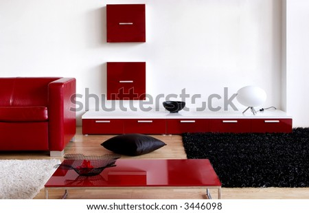 living-room - stock photo