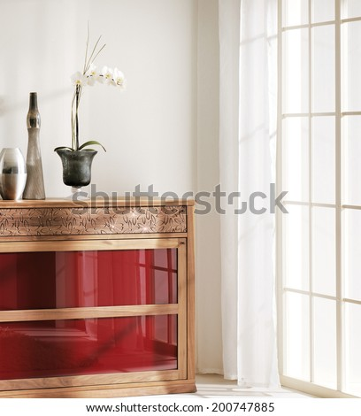 living room and vase - stock photo