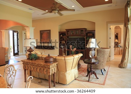 Living Room Design - stock photo