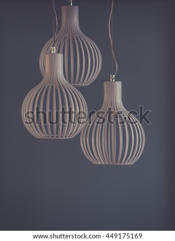 Living room design with lamp - stock photo
