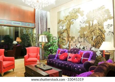 living room detail - stock photo