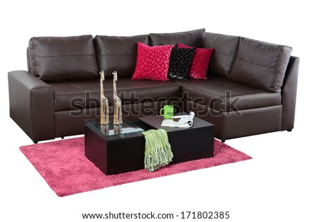 Living room furniture. - stock photo