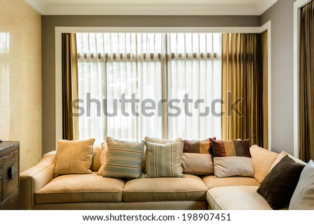 Living room in a condominium - stock photo