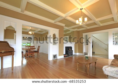 Living room in a nice historical home - stock photo