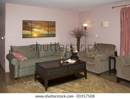 Living room in family home