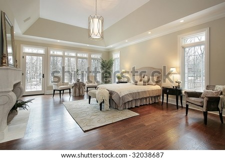 Living room in luxury home - stock photo