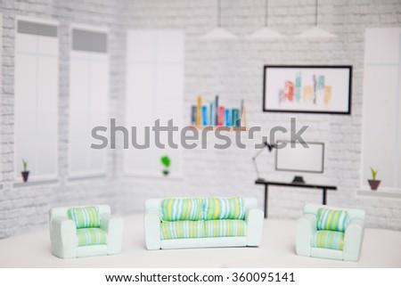 Living room interior. - stock photo