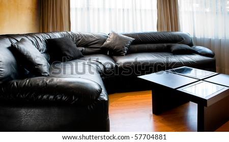 Living room - interior design - stock photo