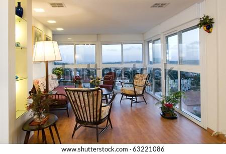 Living room interior design - stock photo