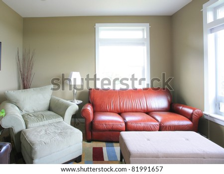 Living Room Interior in Home - stock photo