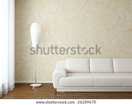 Living room interior - more variations of this interior in my portfolio - stock photo