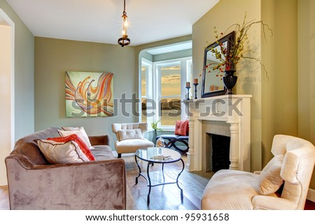 Living room interior with nice furniture. - stock photo
