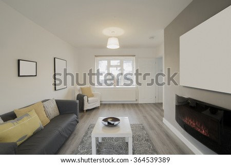 living room lounge - stock photo