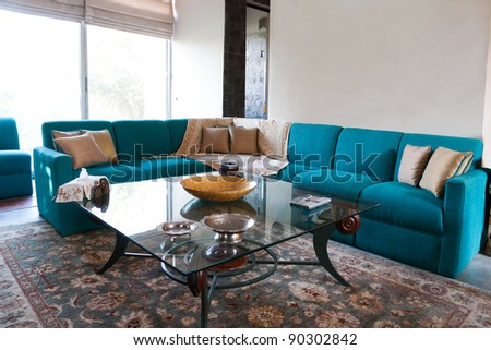 living room of a modern apartment - stock photo