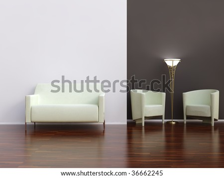 Living Room Setting White Couch Face Stock Illustration 39998284 ...