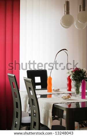 Living room table with decoration - stock photo