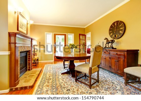 99+ Dining Room With Fireplace Colors - Living Room Fireplace ...