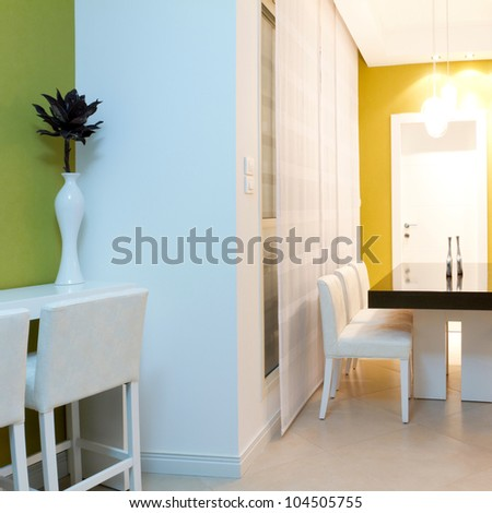 Living room with furnishings in a new house - stock photo