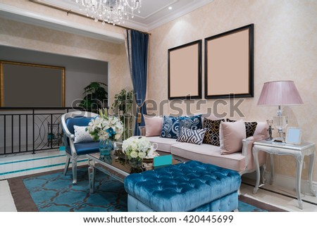 living room with nice decoration