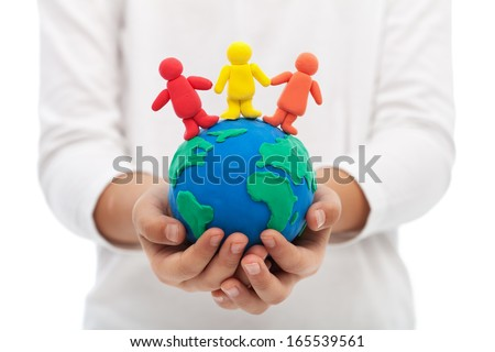 Living together in harmony on earth, our home concept - stock photo