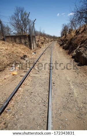 LIVINGSTONE - OCTOBER 14 2013: Reliable rail transprt in Livingstone, Zambia, Africa - stock photo