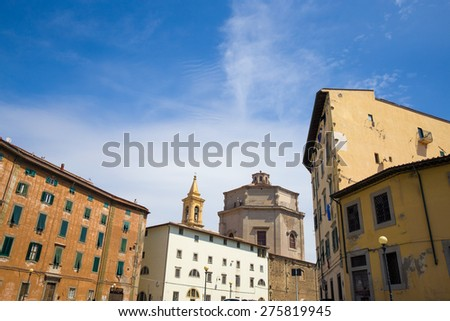 Livorno, city near Pisa, Italy - stock photo
