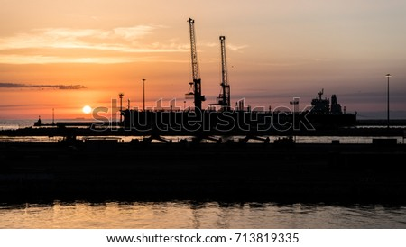 Livorno Dock Sunset