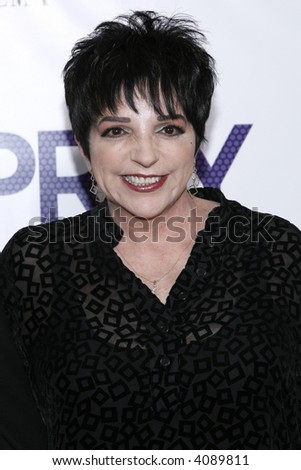 Liza Minnelli attends the New York Premiere of New Line Cinema's 'Hairspray The Musical' at the Ziegfeld Theatre on July 16, 2007 in New York City. - stock photo