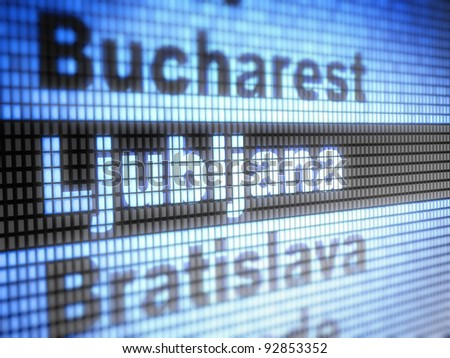 Ljubljana. World capitals  Full collection of icons like that is in my portfolio - stock photo