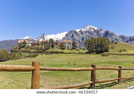 Llao llao international hotel resort in the Andes Mountains, Bariloche, Patagonia, Argentina. - stock photo