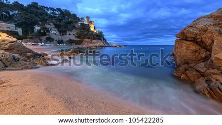 Lloret de mar, Costa Brava, Mediterranean coastal town in Catalonia, Spain - stock photo