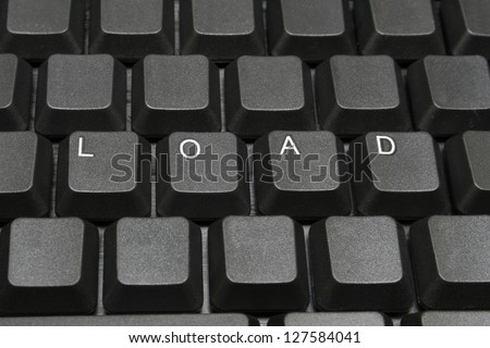 Load written on computer screen