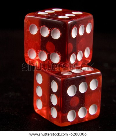 loaded dice - stock photo