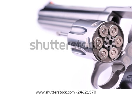 loaded firearm - stock photo
