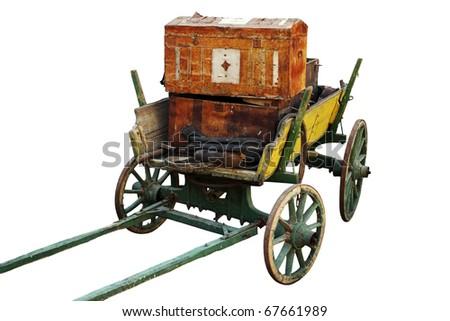 Loaded horse vehicle. - stock photo