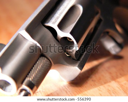 Loaded mini revolver - stock photo