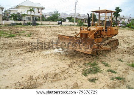 Loader excavator construction machinery - stock photo
