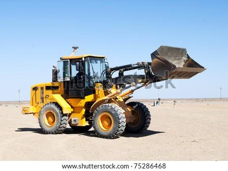 Loader excavator construction machinery equipment - stock photo