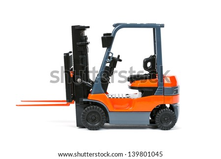 Loader isolated on a white background - stock photo