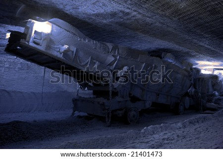Loader. Loading machine set in underground mine - stock photo