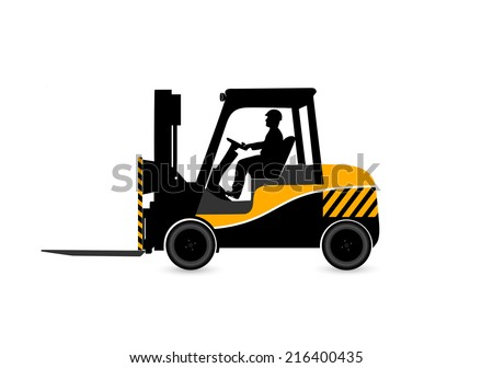 loader on a white background - stock photo