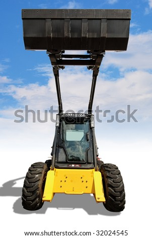 loader with clipping path - stock photo