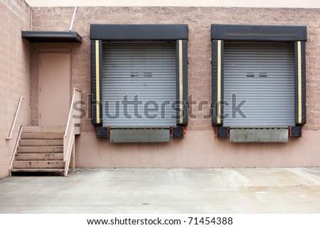 loading dock - stock photo